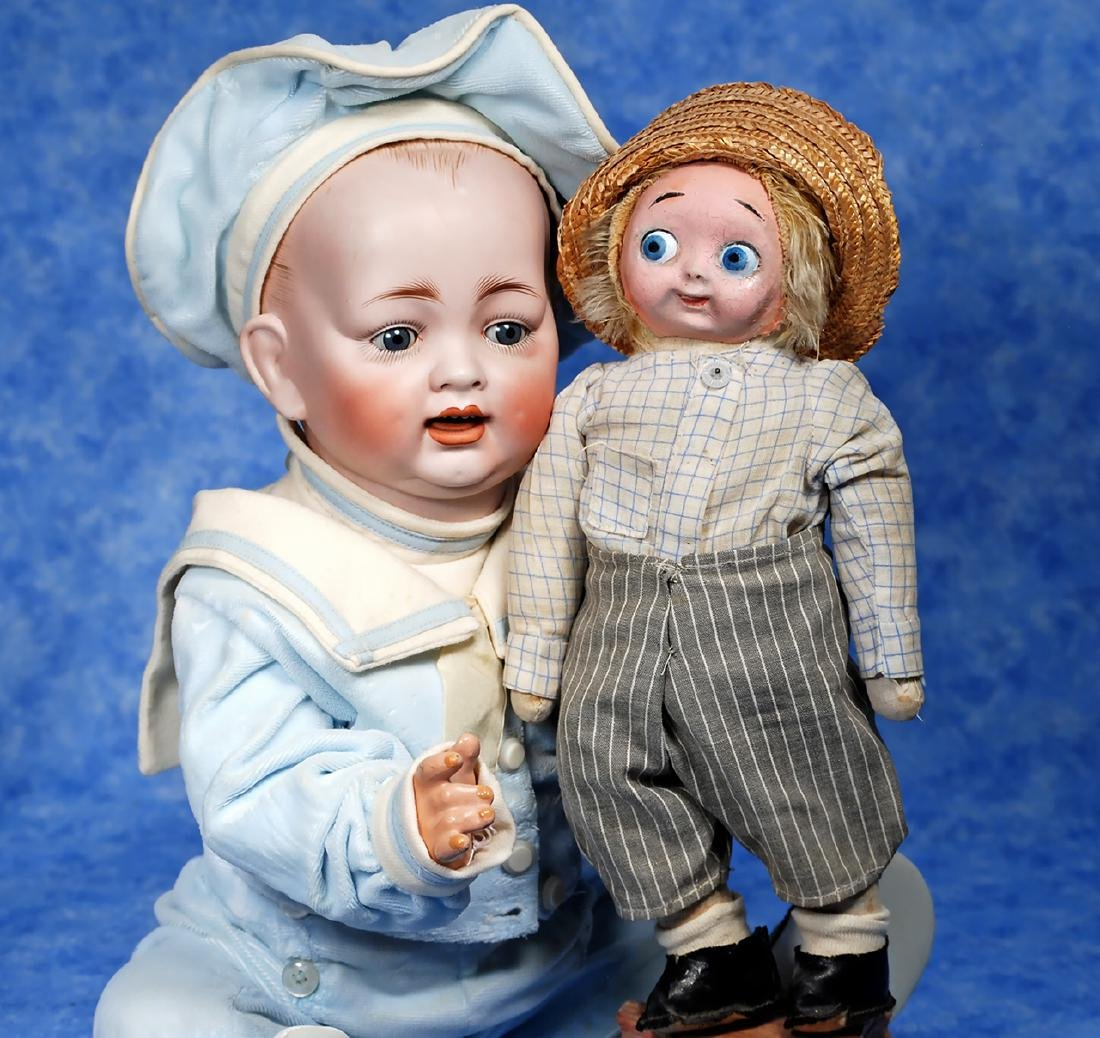 43. GERMAN BISQUE CHARACTER BABY BY HERTEL & SCHWAB.