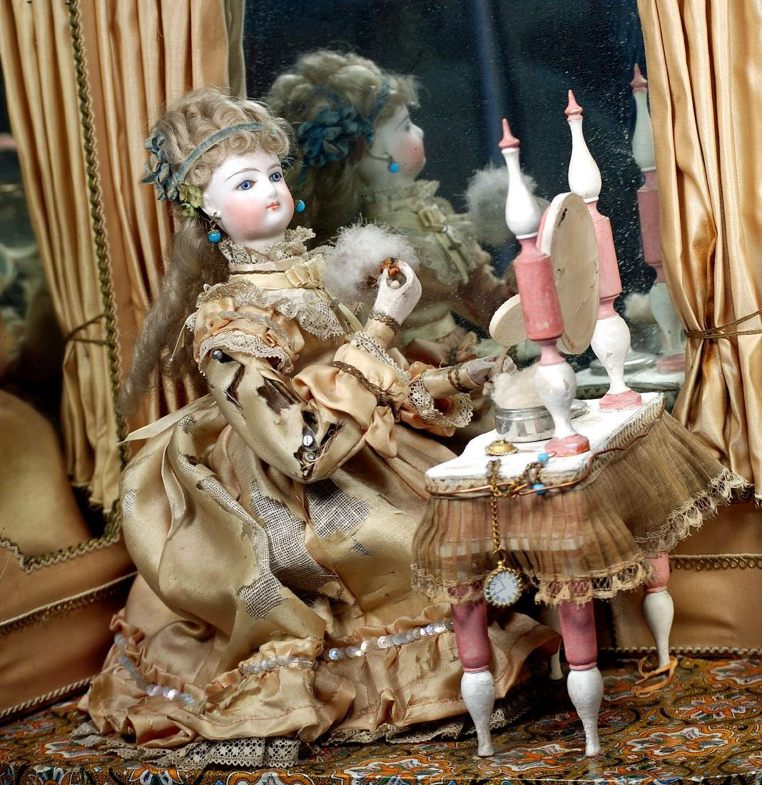 """82. FRENCH AUTOMATON """"LADY PREPARING FOR A - 2"""