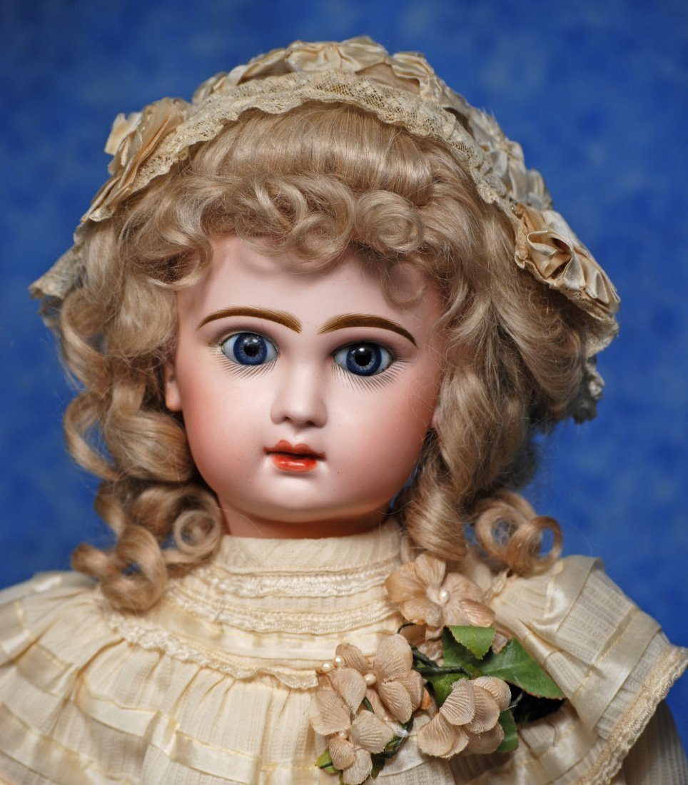 87. BEAUTIFUL FRENCH BISQUE BEBE ATTRIBUTED TO JUMEAU.