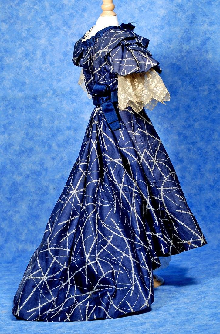 88. ANTIQUE SILK GOWN FOR LADY DOLLS. Two piece gown of - 2