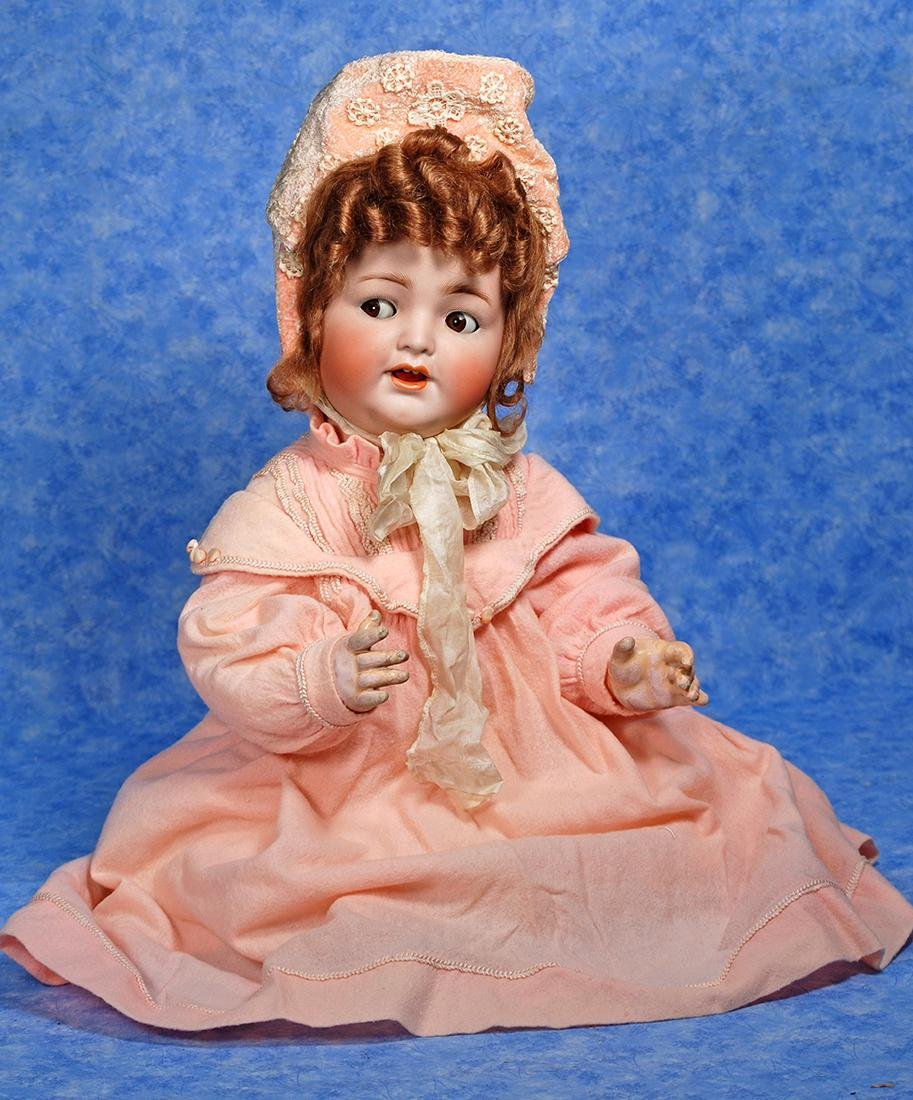 106. CHARMING FLIRTY-EYED BISQUE BABY BY KAMMER &