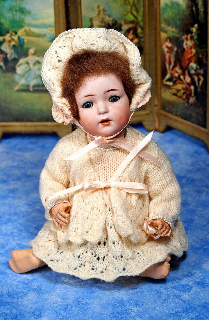 108. GERMAN BISQUE CHARACTER BABY, 121, BY KAMMER AND