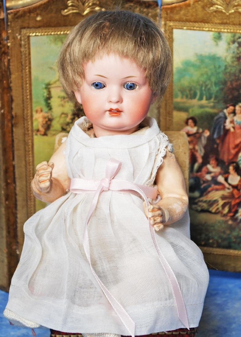 113. GERMAN BISQUE CHARACTER BABY, 604, BY BAHR &
