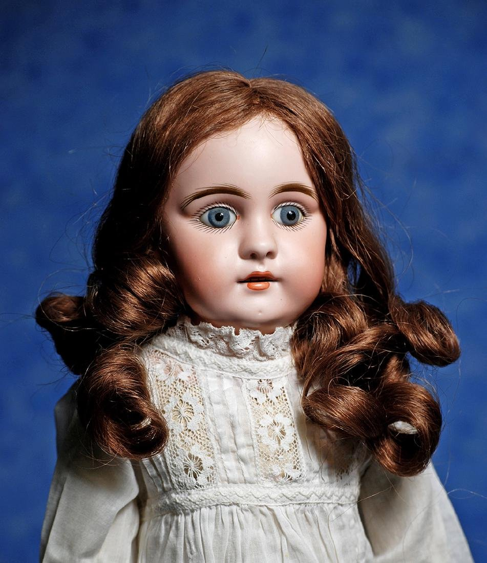 121. KESTNER BISQUE DOLL WITH SQUARE-CUT TEETH. Marks: