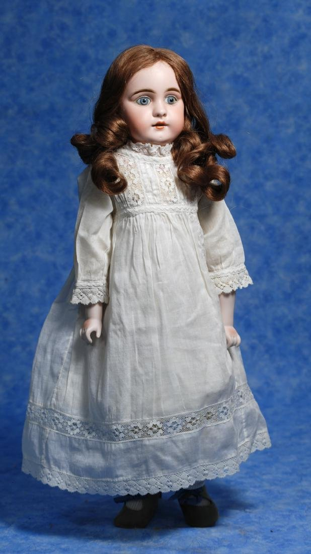 121. KESTNER BISQUE DOLL WITH SQUARE-CUT TEETH. Marks: - 2