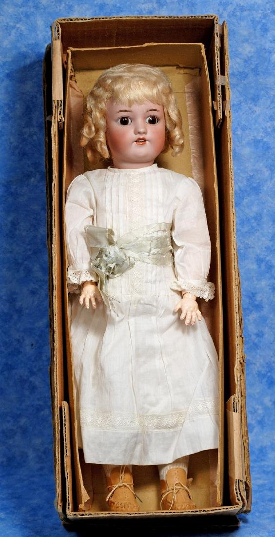 122. GERMAN BISQUE DOLL BY SIMON & HALBIG IN ORIGINAL