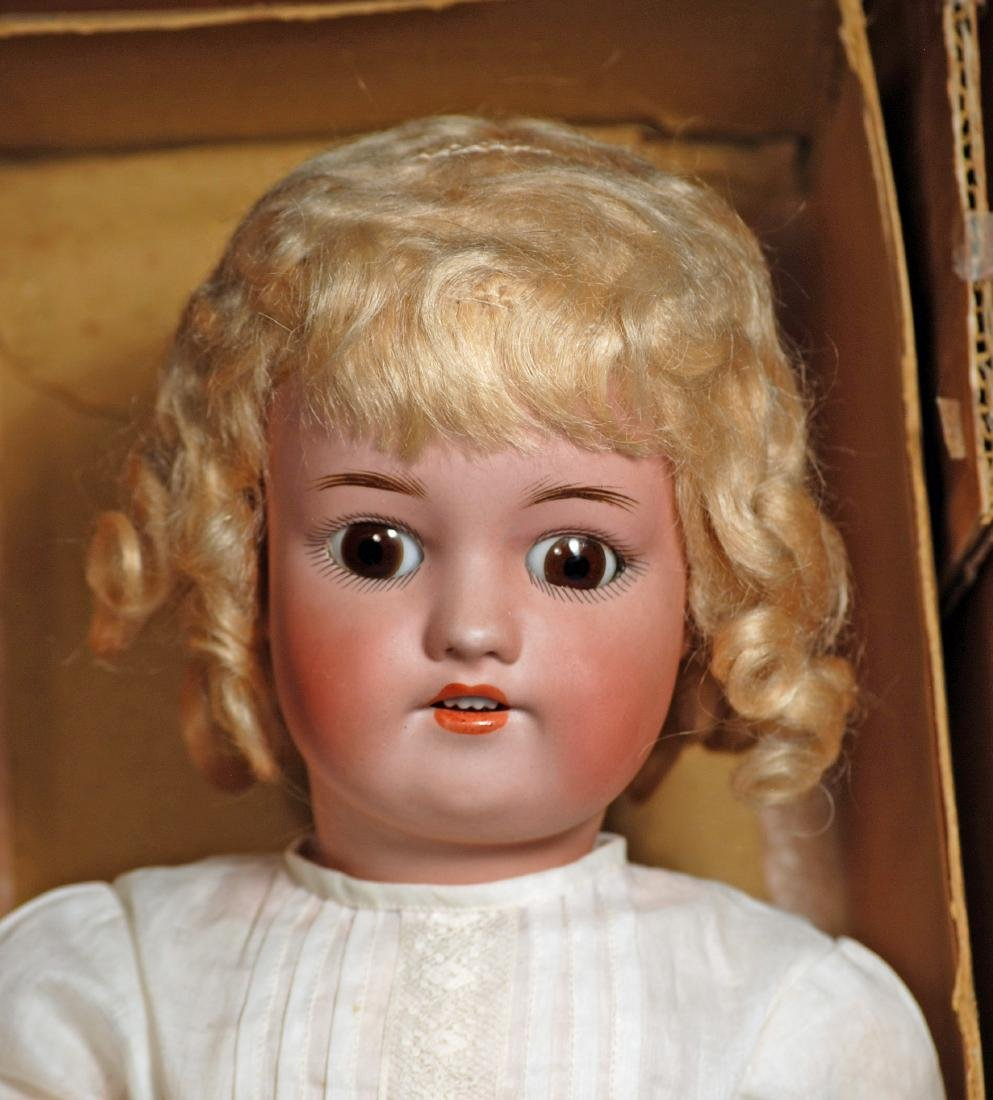 122. GERMAN BISQUE DOLL BY SIMON & HALBIG IN ORIGINAL - 2