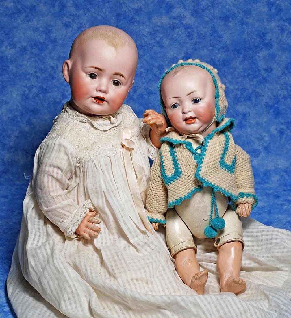 126. GERMAN BISQUE HERTEL AND SCHWAB CHARACTER WITH KID