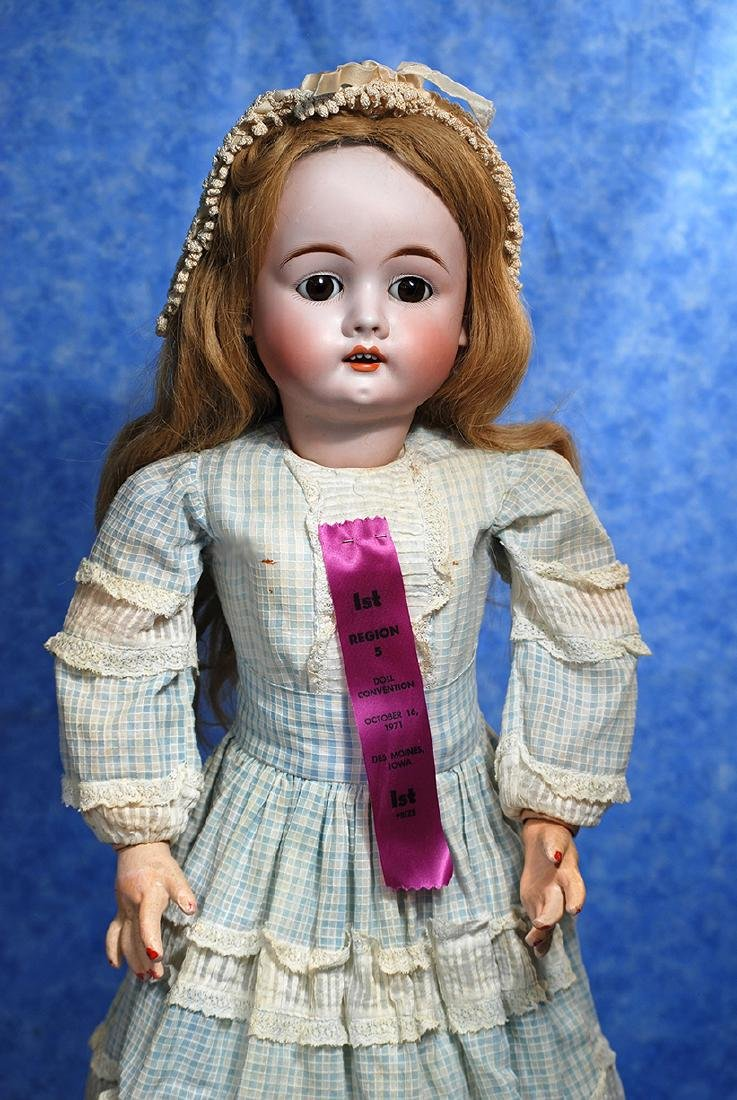 127. GERMAN BISQUE DOLL BY MAX HANDWERCK. Marks: 283
