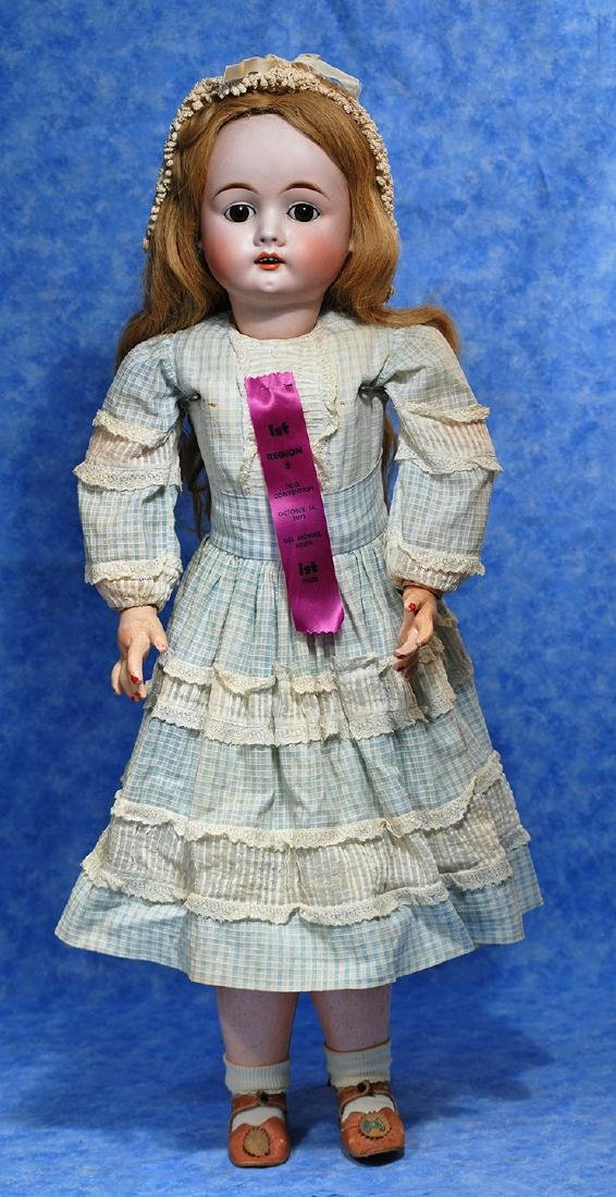 127. GERMAN BISQUE DOLL BY MAX HANDWERCK. Marks: 283 - 2
