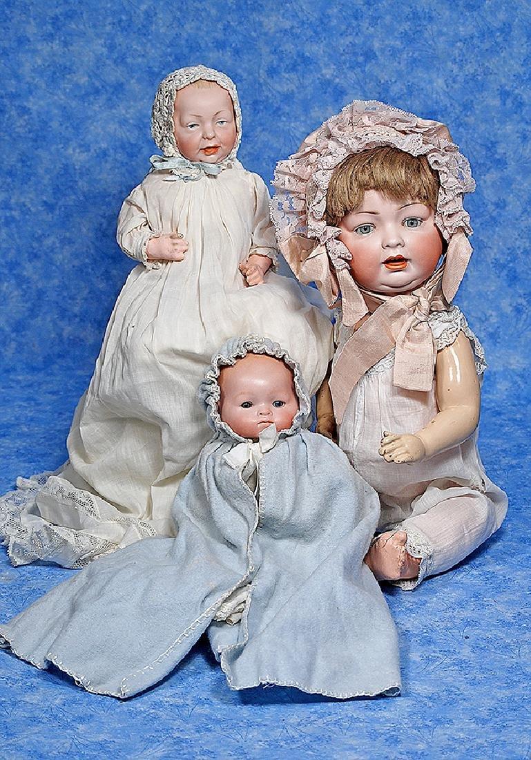 153. GERMAN BISQUE CHARACTER BABY & GERMAN BISQUE
