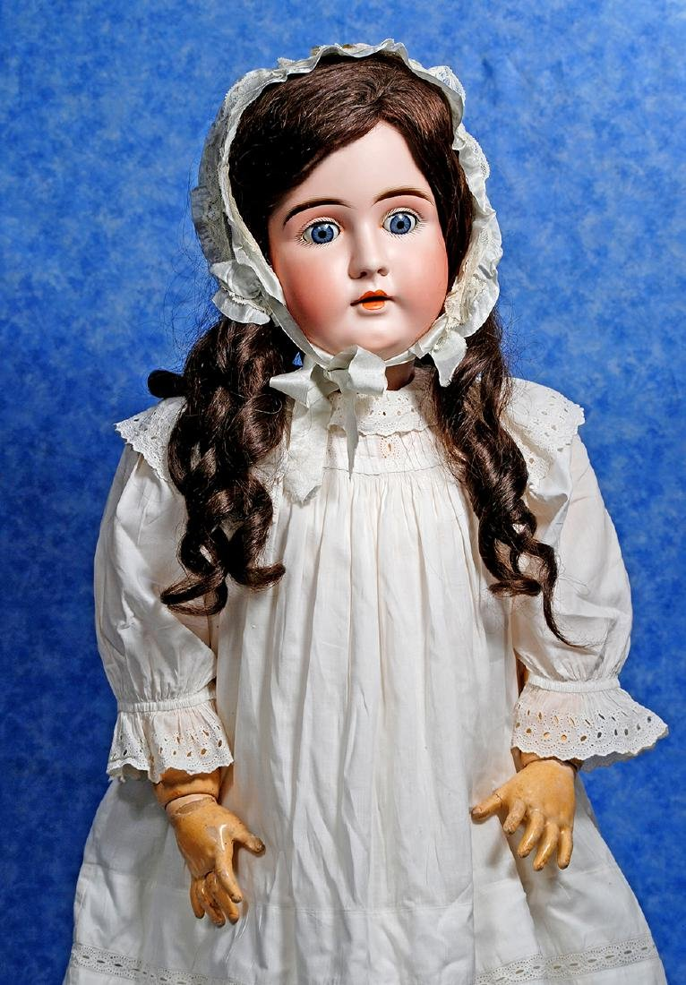 161. GRAND-SIZED, 37-INCH, BISQUE CHILD DOLL BY