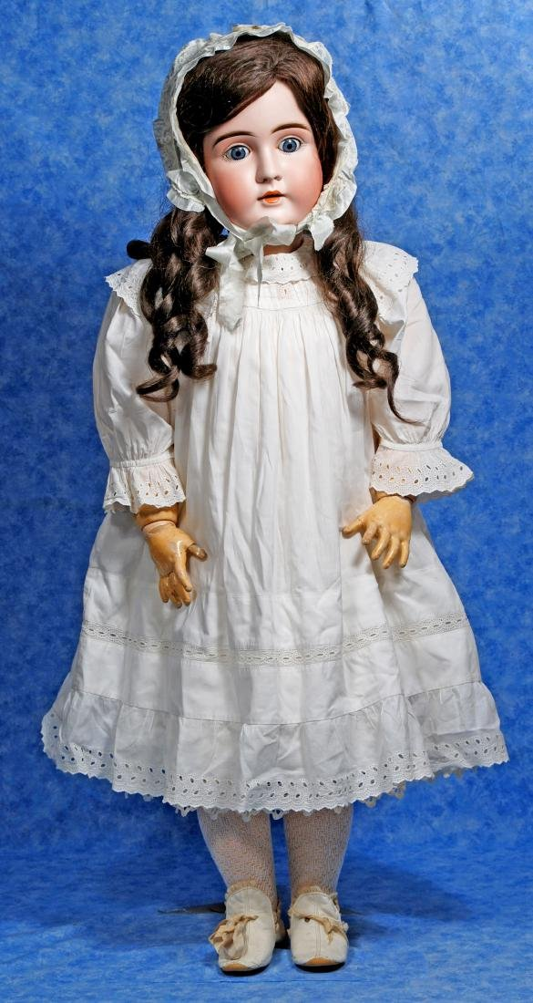161. GRAND-SIZED, 37-INCH, BISQUE CHILD DOLL BY - 3
