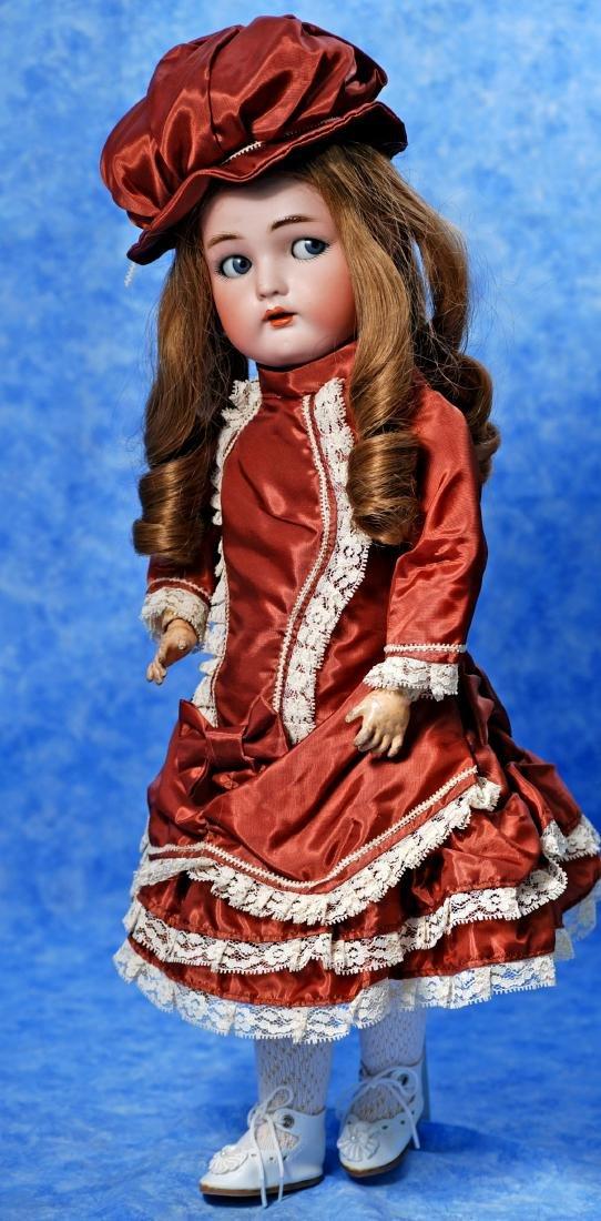 164. GERMAN BISQUE FLIRTY-EYED CHILD BY KAMMER & - 3