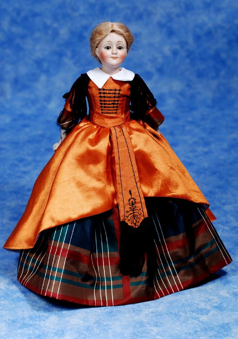 173. PETITE GERMAN BISQUE MODEL OF GIBSON GIRL BY