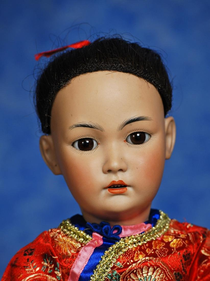 174. GERMAN BISQUE ASIAN DOLL, MODEL 1329, BY SIMON & - 2
