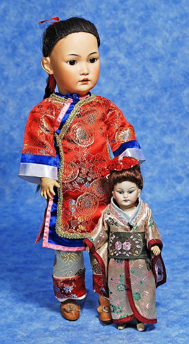 175. TINY BISQUE PORTRAIT CHILD OF ASIAN, 1199, BY