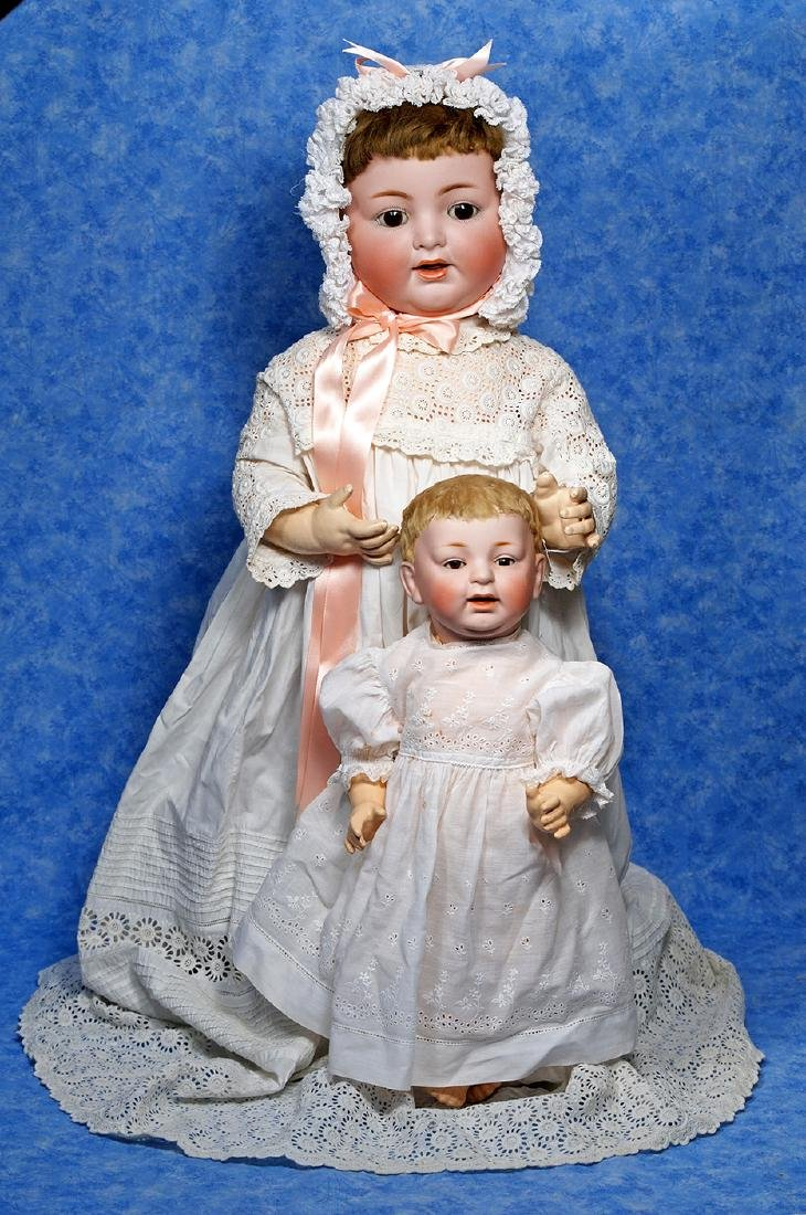 180. GERMAN BISQUE CHARACTER BABY BY KESTNER. Marks: H.