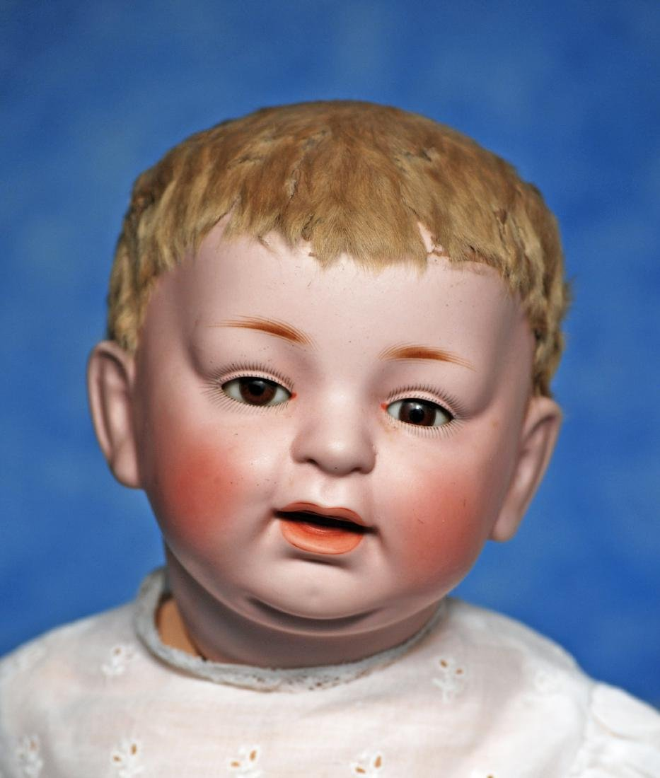 180. GERMAN BISQUE CHARACTER BABY BY KESTNER. Marks: H. - 2
