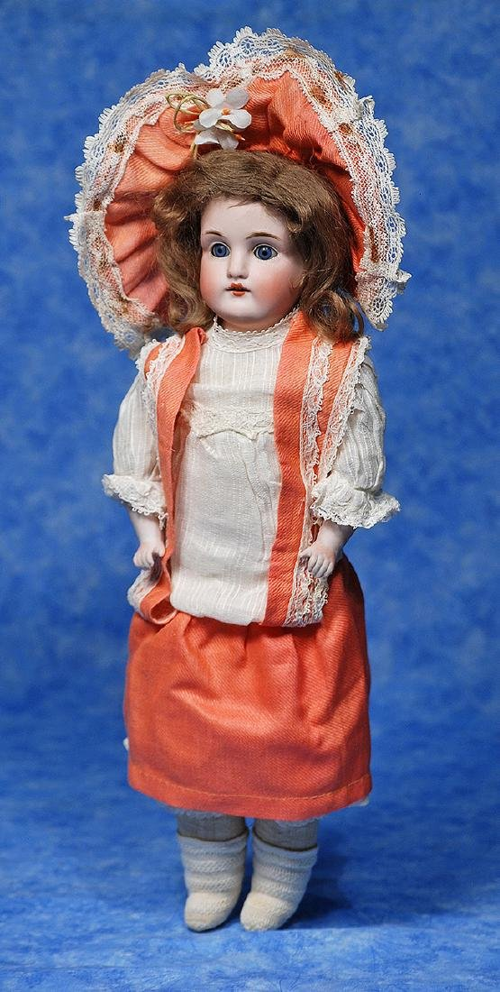 185. KESTNER BISQUE DOLL WITH SQUARE-CUT TEETH AND