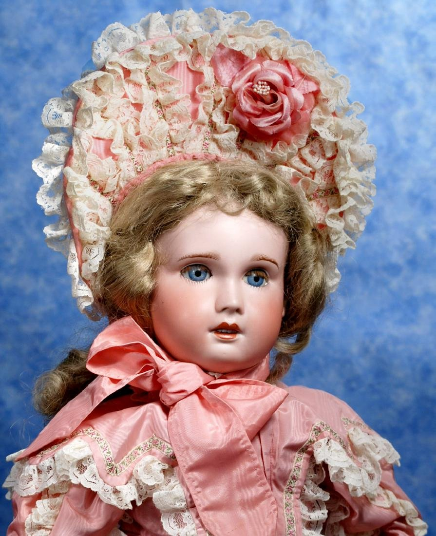 231. LARGE FRENCH BISQUE JUMEAU BEBE BY S.F.B.J. Marks: