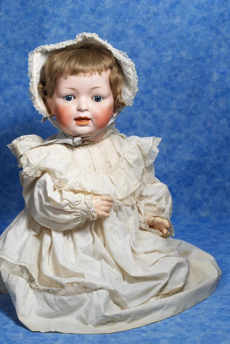 233. LARGE GERMAN BISQUE CHARACTER BABY BY HERTEL &