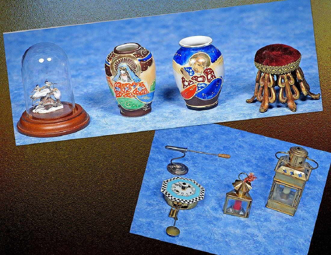240. GROUP OF MINIATURE ACCESSORIES. Includes: