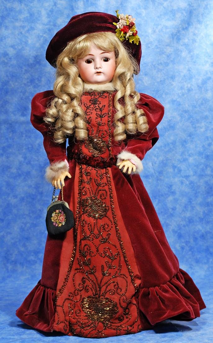 248, GERMAN BISQUE DOLL BY DRESSEL. Marks: Made in