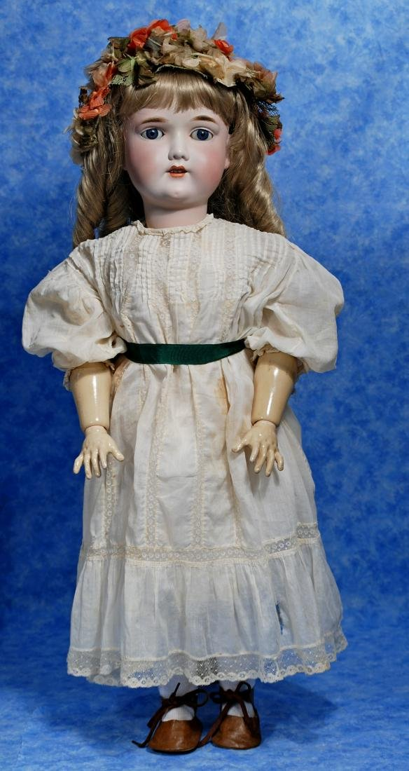 257. GERMAN BISQUE CHILD DOLL BY GEBRUDER KUHNLENZ.