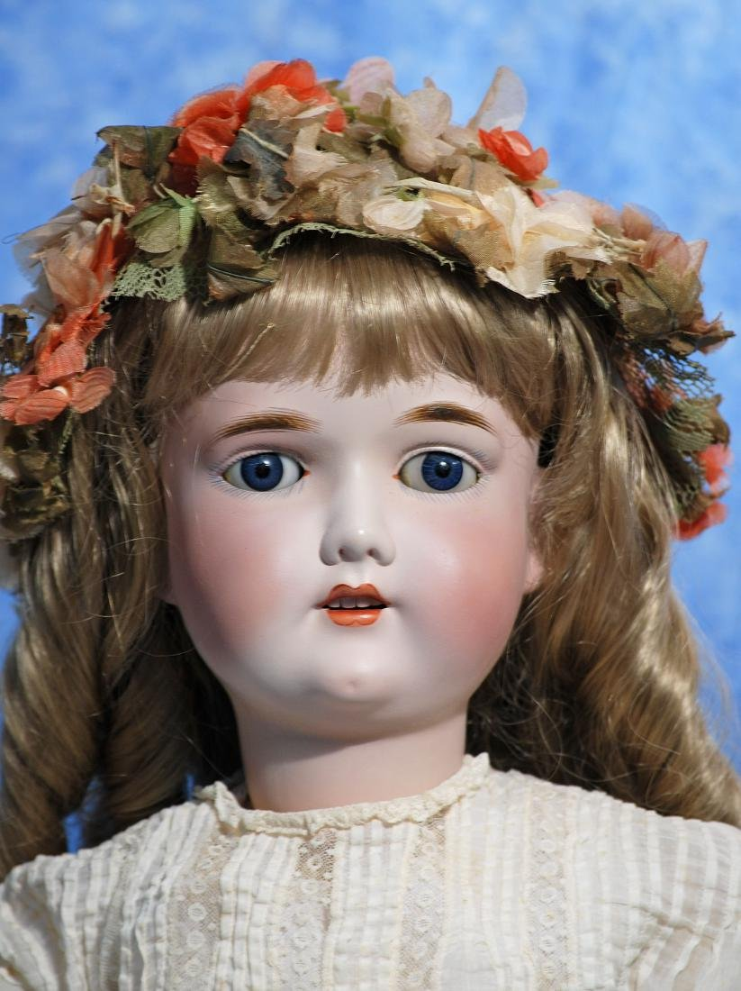 257. GERMAN BISQUE CHILD DOLL BY GEBRUDER KUHNLENZ. - 2