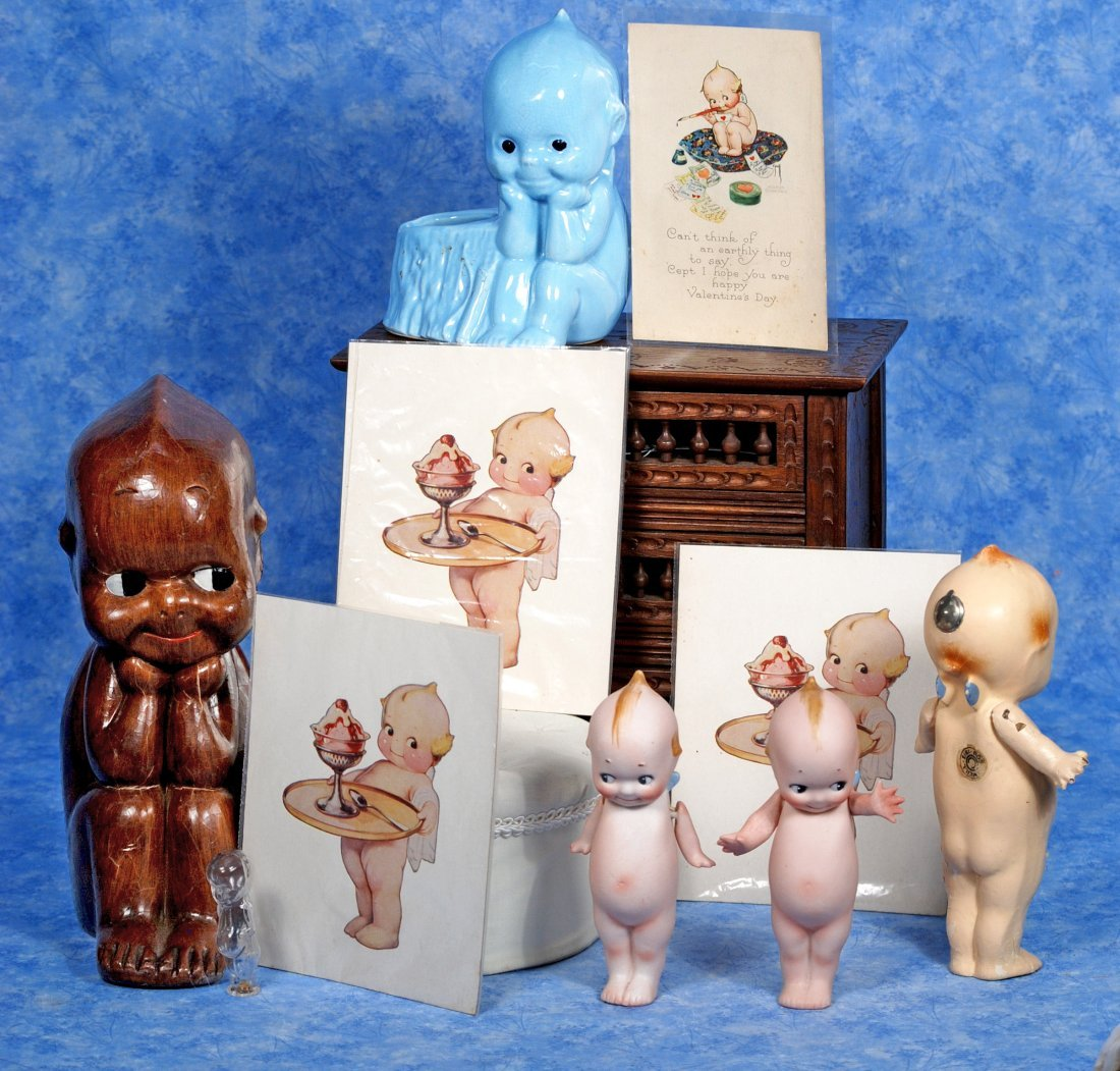 GERMAN BISQUE KEWPIES & KEWPIE MEMORABILA.