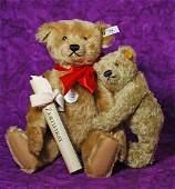 "247. TWO STEIFF TEDDY BEARS. 10"" dark blonde"