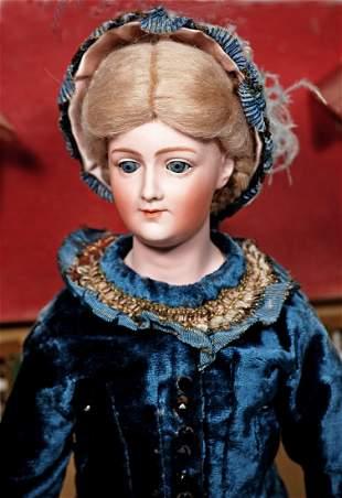RARE GERMAN BISQUE PORTRAIT LADY, 7926, BY GEBRUDER