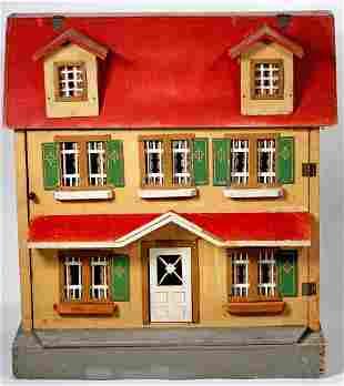 "REDROOF WOODEN DOLLHOUSE BY MORITZ GOTTSCHALK 20"" H x"