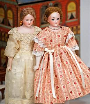 TWO GERMAN BISQUE, 1160, LADY DOLLS BY SIMON & HALBIG