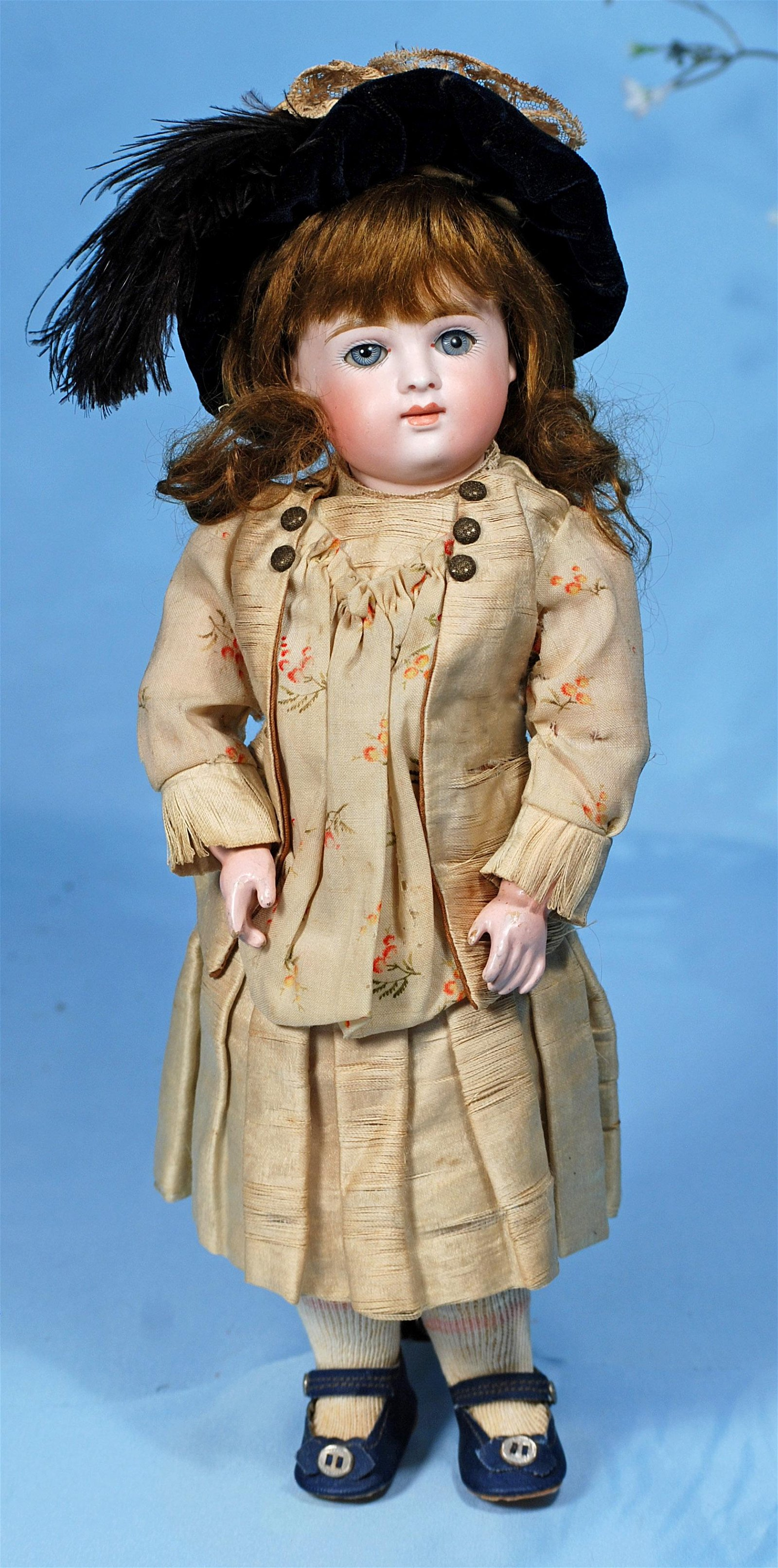 GERMAN BISQUE CLOSED-MOUTH DOLL BY KESTNER.  Marks:  6.