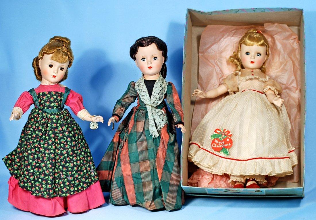 """THREE ALL-ORIGINAL MME. ALEXANDER 14"""" LITTLE WOMEN"""