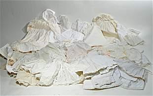 LARGE LOT OF ANITQUE WHITE CLOTHING