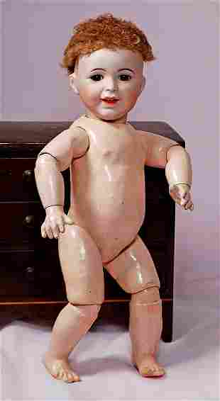 """FRENCH BISQUE """"LAUGHING JUMEAU"""" BY SFBJ - TODDLER BODY"""