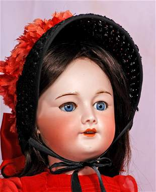 FRENCH BISQUE DOLL WITH WALKER BODY BY S.F.B.J .