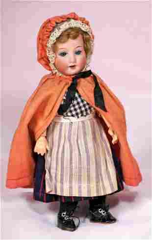 PETITE GERMAN BISQUE CHILD BY MARSEILLE IN ORIGINAL COS