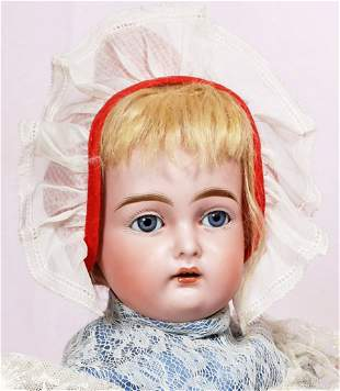 GERMAN BISQUE DOLL WITH MYSTERY MARKINGS