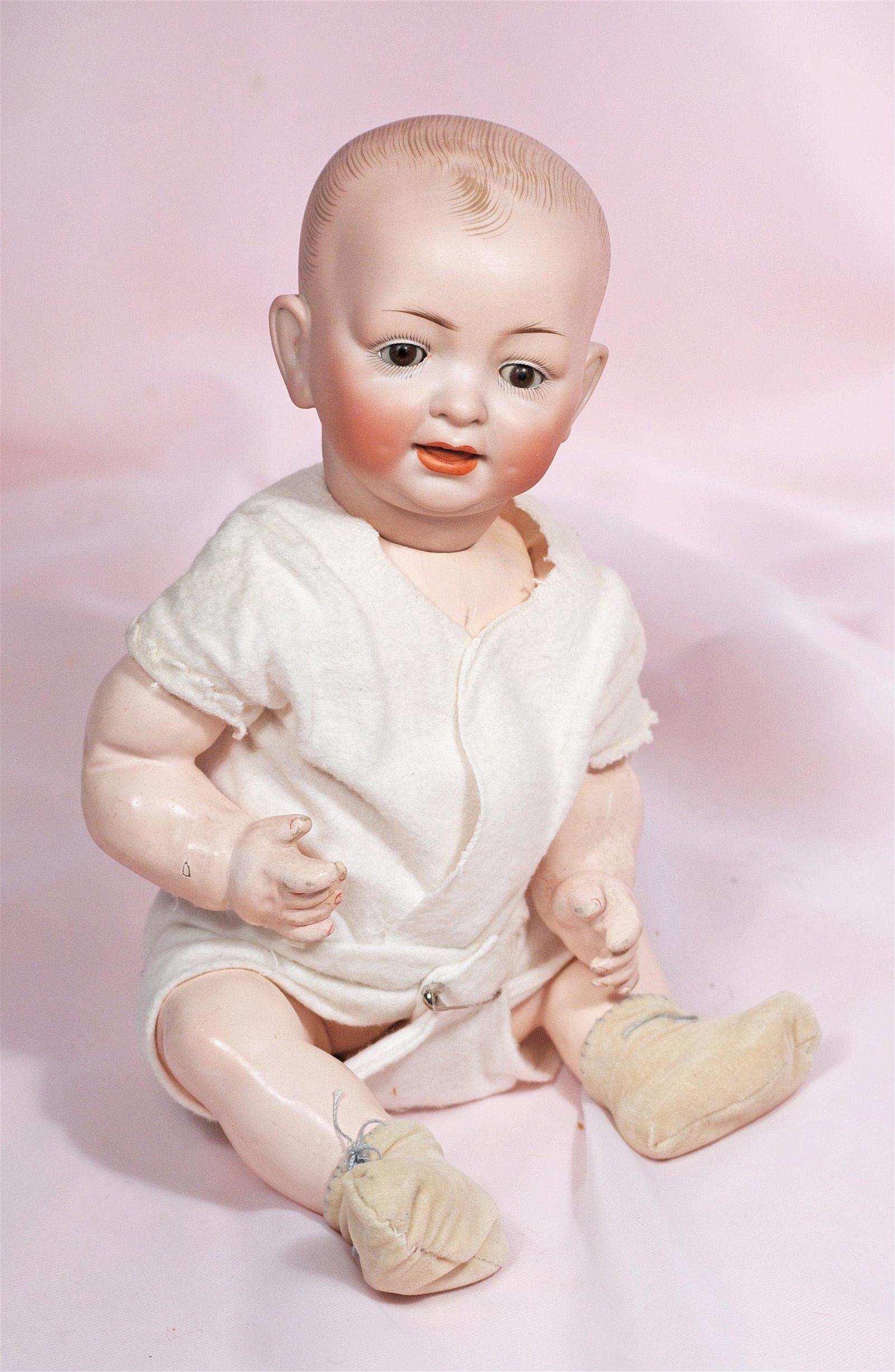 GERMAN BISQUE CHARACTER BABY BY HERTEL & SCHWAB