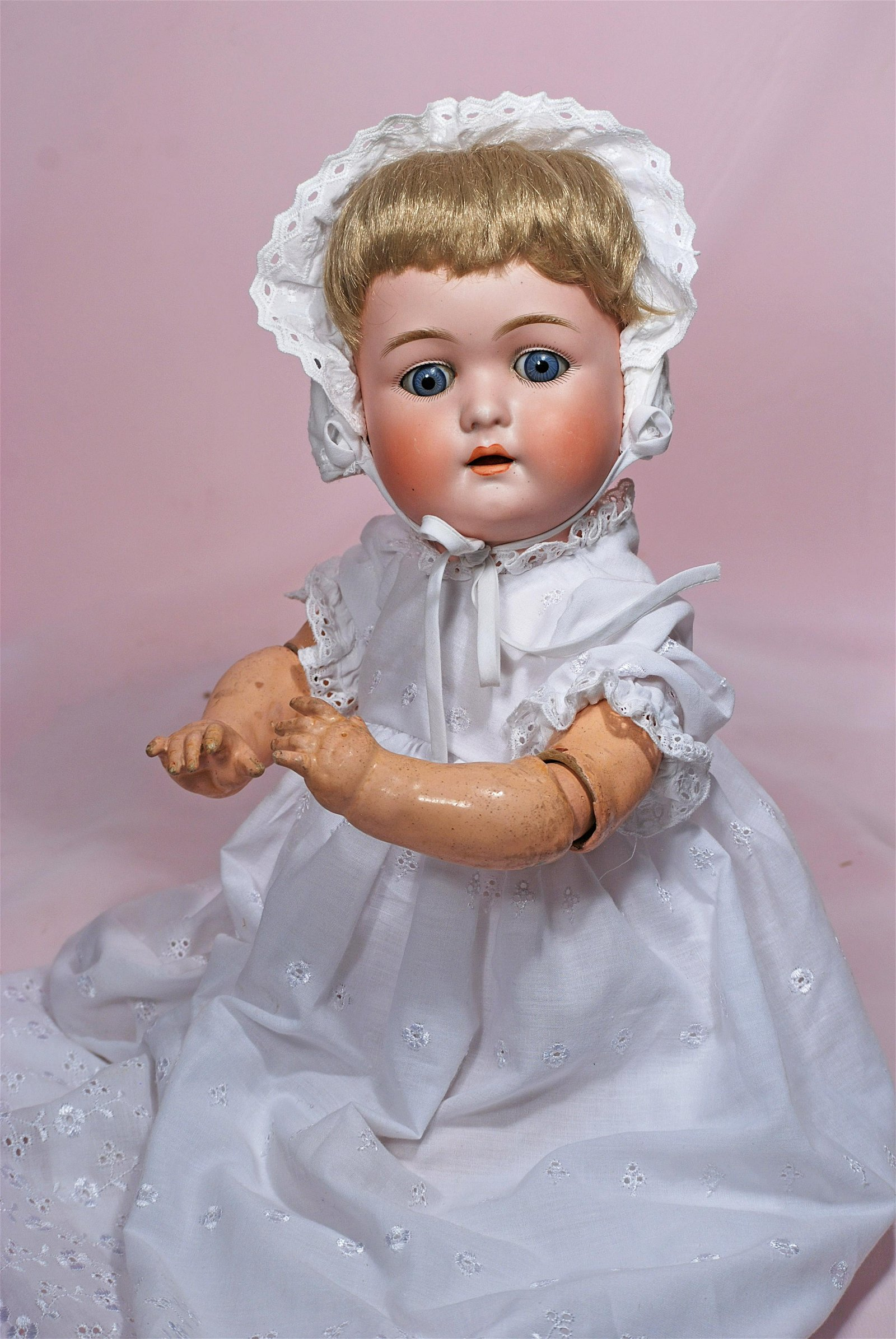 GERMAN BISQUE CHARACTER BABY WITH MYSTERY MARKINGS