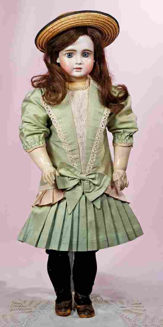 EARLY FRENCH-LOOK SONNEBERG BISQUE DOLL