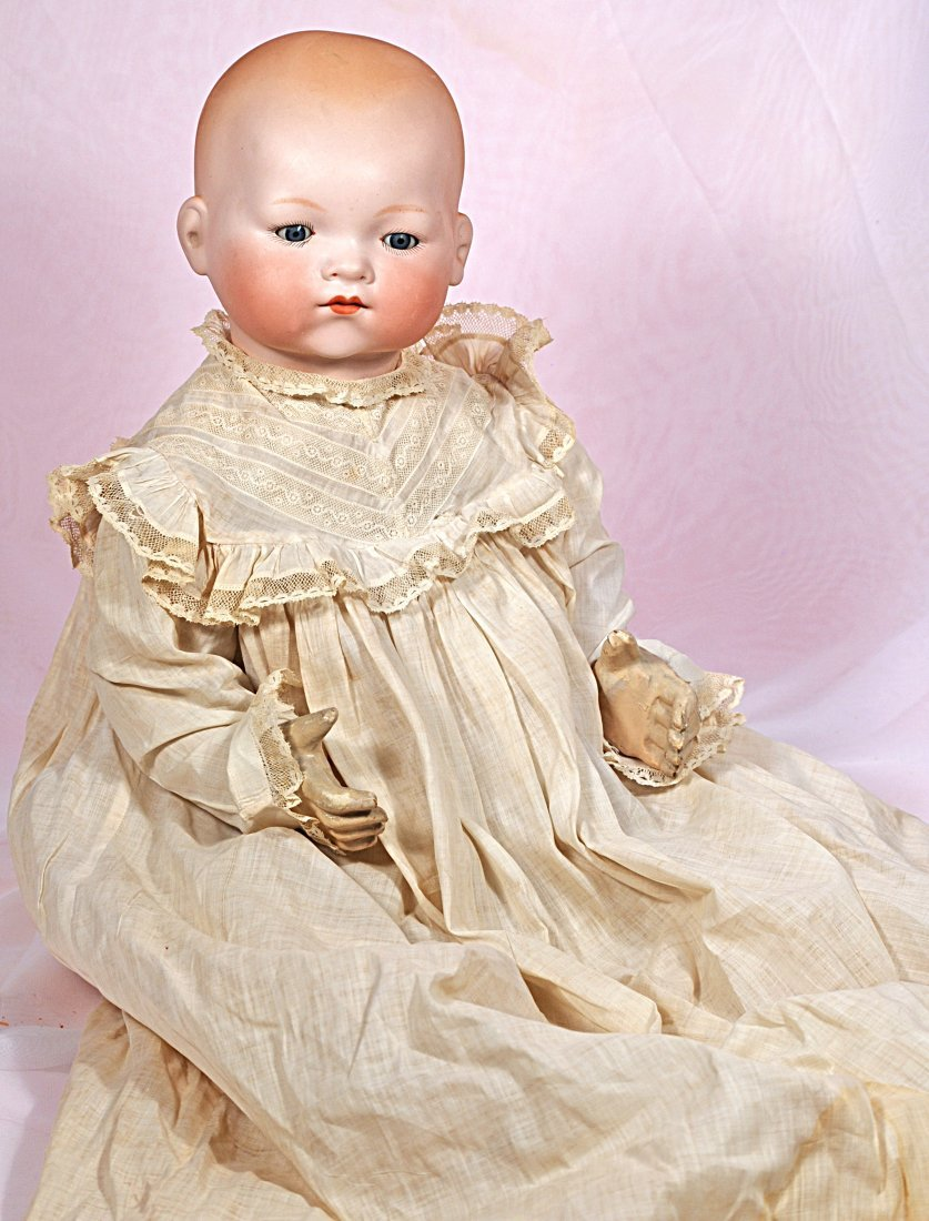 LIFE SIZE A.M. 341 BISQUE SOCKET HEAD BABY WITH COMPO