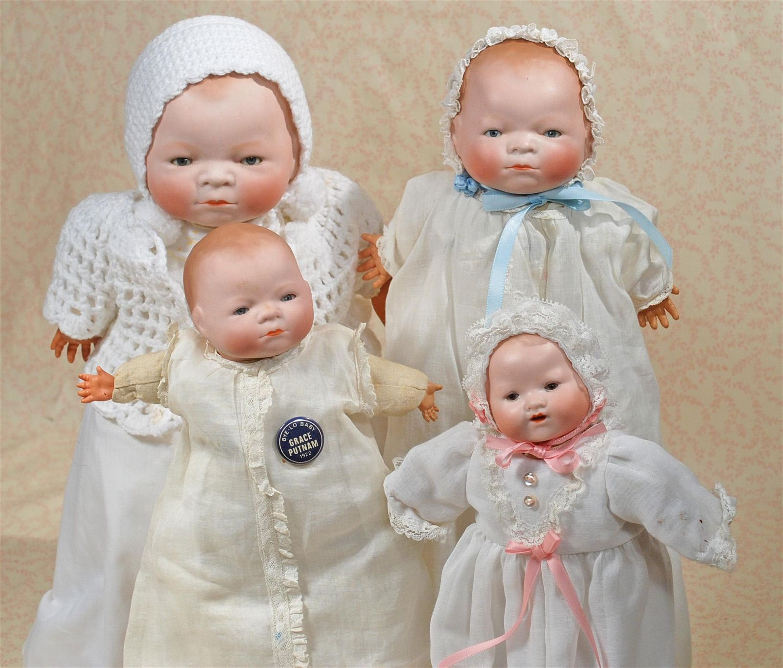 FOUR GERMAN BISQUE BABIES