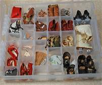 CASE OF DOLL SHOES AND ACCESSORY ITEMS.