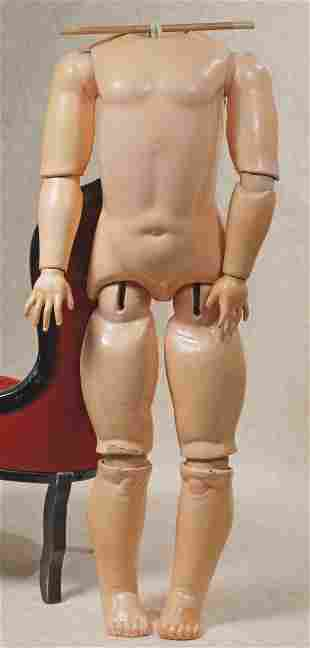 GERMAN COMPOSITION BALL-JOINTED DOLL BODY.