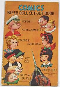 COMICS PAPER DOLL CUT-OUT BOOK BY SAALFIELD.